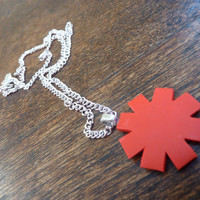 Red Hot Chilli Peppers asterisk necklace