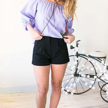 All Of Me Fully Lined Black Shorts