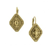 Signature Gold Diamond Filigree Earrings