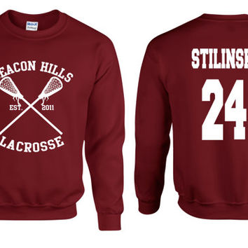 Teen Wolf Beacon Hills Lacrosse Stilinski Adult Sweatshirt Graphic Shirt Cool Stuff Nice Fashion Clothing