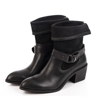 Winter England Style Leather Dr Martens Boots [4918351428]