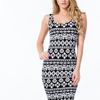 Tribe And True Two-Toned Print Dress