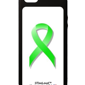 Lyme Disease Awareness Ribbon - Lime Green iPhone 5C Grip Case  by TooLoud