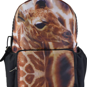 Nice Giraffe Print Large Backpack