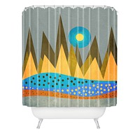 Viviana Gonzalez Retro Landscape I Shower Curtain
