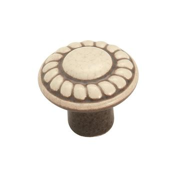 Amerock Ceramic Distressed Cream Round Cabinet Knob