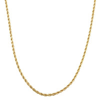 2mm 14k Gold Filled Rope Chain Necklace