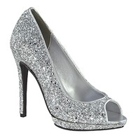 shop prom dresses | plus size prom dresses | prom shoes | Tease by Touch Ups TU4030 Silver Peep Toe Platform | GownGarden.com