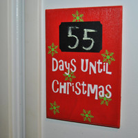 Magnetic Refrigerator Christmas Countdown