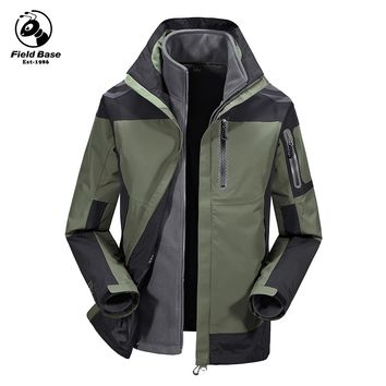 Field Base Winter Jacket Men Brand Windbreaker Windproof Waterproof Fashion Designer Parka Clothing Mountain jackets 63P60806A