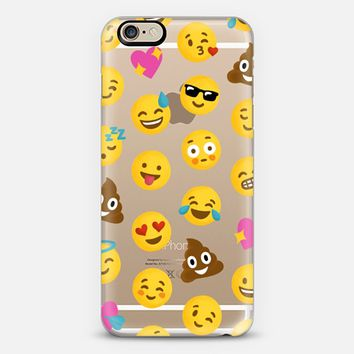 Emoji iPhone 6 Transparent Case iPhone 6 case by Nour Tohme | Casetify