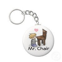 Pewdiepie Mr. Chair Keychain from Zazzle.com