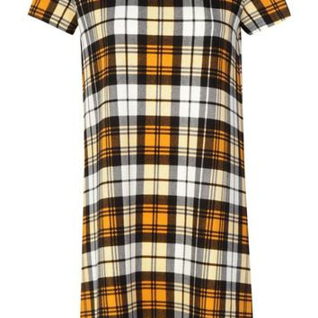 Alicia Check Shift Dress | Boohoo