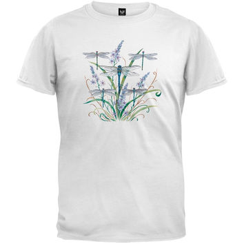Dragonfly Lace White T-Shirt