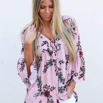 Endless Summer Baby Doll Top {Pink}
