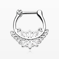 Royal Leaflet Filigree Lace Septum Clicker