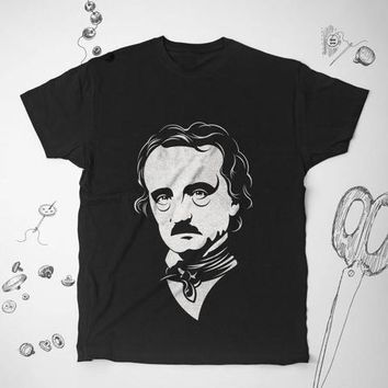 Edgar Allan Poe Book Lover Literary Reader Fashion Shirt Top Tee