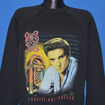 90s Elvis Presley Classics Are Forever Sweatshirt Large