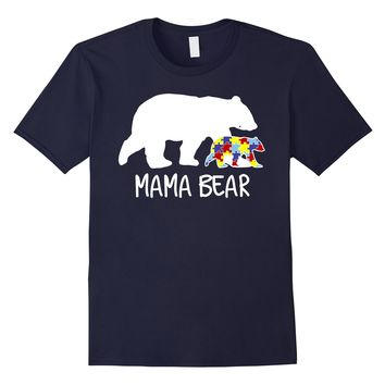 Mama Bear Autism Mom T-Shirt
