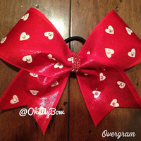 Valentines Day Bow with Rhinestones