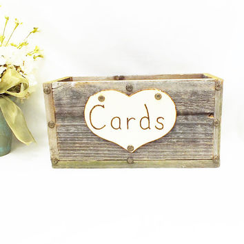 Wedding Card Box - Wedding Gift Card Holder- Rustic Wedding, Country Wedding, Barn Wedding Decor