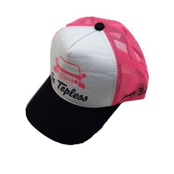 ESBON3F Jeep Girl Trucker Mesh Back Cap