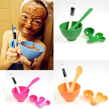 New 1 Set 6in1 Ladies DIY Beauty Makeup Facial Face Mask Mixing Bowl Brush Spoon Stick Set Tool