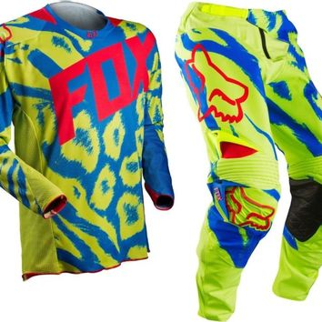 2015 Fox 360 Marz Yellow MX Motocross Gear Kit Adult CR KX YZ RM KTM TM 125 250
