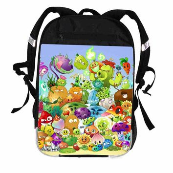 Zombies Backpack Animal Children Anime Game PK Plants Women Men Casual Boys Girls School Bags Hip Hop Laptop Mochila Kpop Bolsa