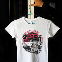 Old Classic Car Mini Cooper Speed is what you need White 100% cotton T shirt T-shirt Tee Digital Print