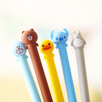 A08 Cute Soft Silicone Cartoon Totoro Gel Pen Writing Stationery School Supplies Student Gift Rewarding Prize