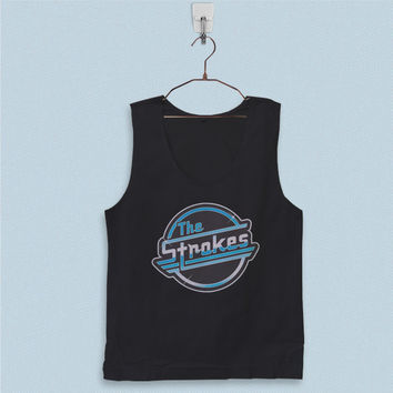 Men's Basic Tank Top - The Strokes Band Logo