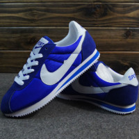 NIKE Cortez Forrest gump lovers shoes running shoes running shoes Blue white hook