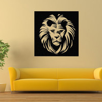Head of a Lion Alpha Male Vinyl wall decal sticker B0203