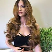 Ombré Soft and Silky Swiss Lace Front Wig - Lily 9176 ON SALE