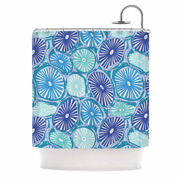 "Jacqueline Milton ""Sea Coral - Blue"" Blue Aqua Shower Curtain"