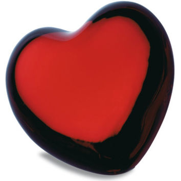 Baccarat Crystal Red Puffed Heart Paperweight 1761585