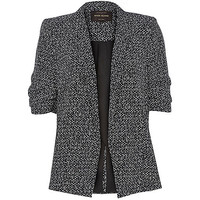 River Island Womens Black and white crepe relaxed blazer