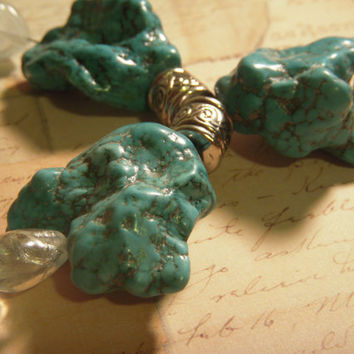 Divine Aquamarine Chunky Necklace
