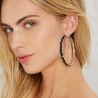 Rock City Hoop Earrings