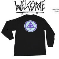 Welcome Skateboards — Talisman LS Black T shirt