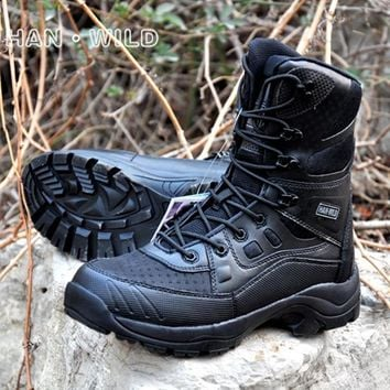 Men's Sneakers Tactical Boots Military Combat Boots Army black mens sport boots Breathable Wearable Tactical Hiking boots