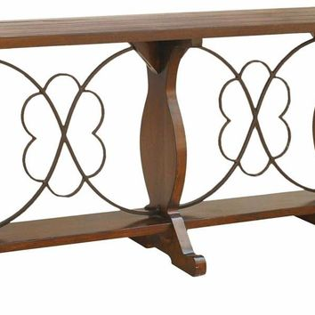 Normandy Wood and Iron Console