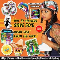 BluedarkArt • #Pick a #sticker! #Peel a sticker! #Stick a...