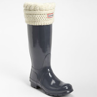 Hunter Tall Gloss Rain Boot & Cable Knit Cuff Welly Socks | Nordstrom