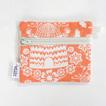 Beehive Floral Coin Purse Wallet, Key Ring, Gift Idea, Business Card Holder, Credit Card Case, Gift Card Holder