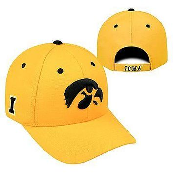 Licensed Iowa Hawkeyes Official NCAA Adjustable Triple Threat Hat Cap by Top of the World KO_19_1
