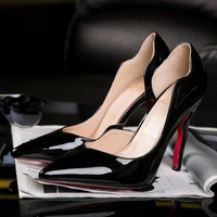 CL Christian Louboutin Women Pointed Toe Heels Shoes-2