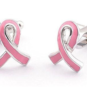 "Basket Hill ,Breast Cancer"" Pink Ribbon"" Cufflinks"