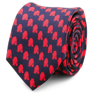 Star Wars R2D2 Navy Blue And Red Skinny Mens Tie